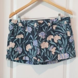 French Connection floral cuffed Jean shorts
